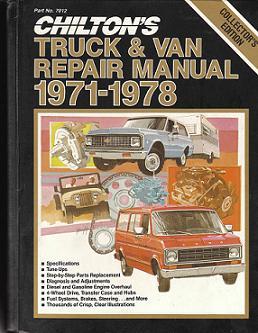 1971 1978 chilton s truck   van repair manual good Service Manuals Small Engine Rebuild Manuals