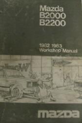 1982 mazda b2000 wiring diagram mazda 1982 & 1983 b2000 b2200 factory workshop manual ...