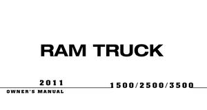 2011 ram 1500 owners manual