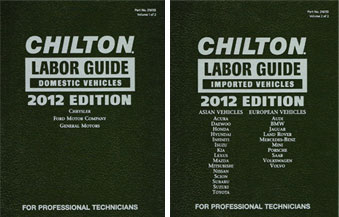 2012 chilton labor time guide manuals domestic import 2 volume set rh auto repair manuals com Work Labor Guide chilton labor time guide online