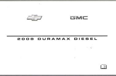 2008 gmc chevrolet silverado and sierra factory owner s manual rh auto repair manuals com 2012 Silverado Diesel MPG 2013 Chevy Silverado Duramax Diesel