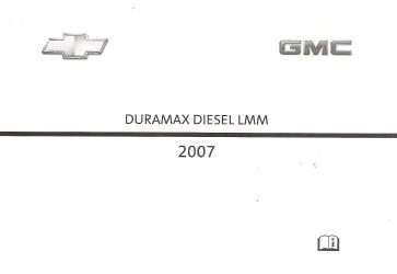 2007 gmc chevrolet silverado and sierra factory owner s manual lmm rh auto repair manuals com 2013 Chevy Silverado Diesel Silverado Half-Ton Diesel