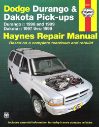 1997 1999 dodge durango and dakota haynes repair manual. Black Bedroom Furniture Sets. Home Design Ideas