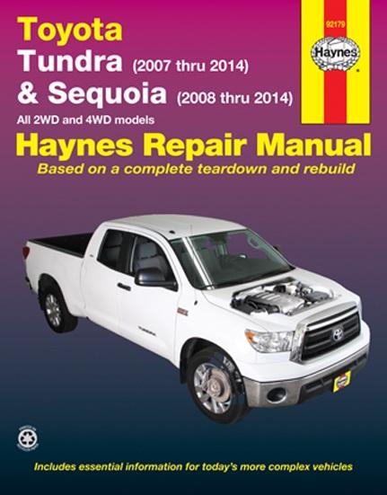 2007 2014 toyota tundra 08 14 toyota sequoia haynes repair manual. Black Bedroom Furniture Sets. Home Design Ideas