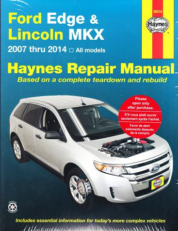 2007 2014 ford edge lincoln mkx haynes repair manual. Black Bedroom Furniture Sets. Home Design Ideas