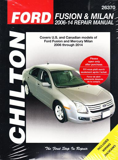 2006 2014 ford fusion mercury milan chilton 39 s total. Black Bedroom Furniture Sets. Home Design Ideas
