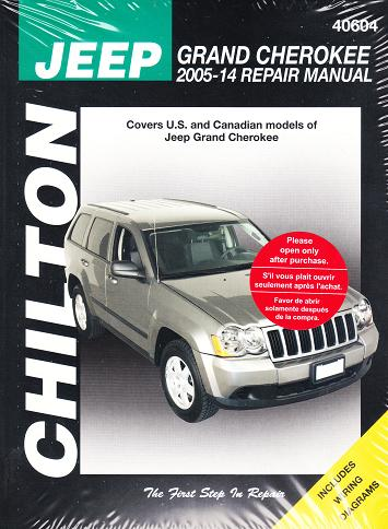 2005 2014 jeep grand cherokee chilton repair manual. Black Bedroom Furniture Sets. Home Design Ideas