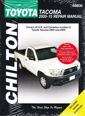 2005 2015 toyota tacoma chilton 39 s total car care manual. Black Bedroom Furniture Sets. Home Design Ideas