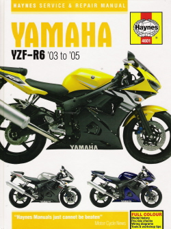 2003 2005 yamaha yzf r6 yzfr6 haynes service repair shop. Black Bedroom Furniture Sets. Home Design Ideas