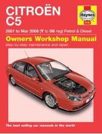 2001 2008 citroen c5 gas diesel haynes repair manual. Black Bedroom Furniture Sets. Home Design Ideas