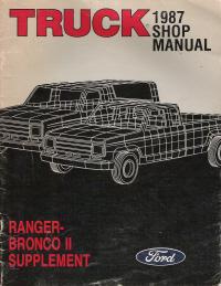 1987 Ford Truck Ranger Amp Bronco Ii Supplement Manual
