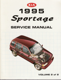 1995 kia sportage factory service manual 2 volume set. Black Bedroom Furniture Sets. Home Design Ideas