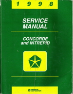 1998 chrysler concorde dodge intrepid service repair manual. Black Bedroom Furniture Sets. Home Design Ideas