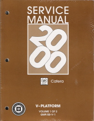 2000 Cadillac Catera Service Manual