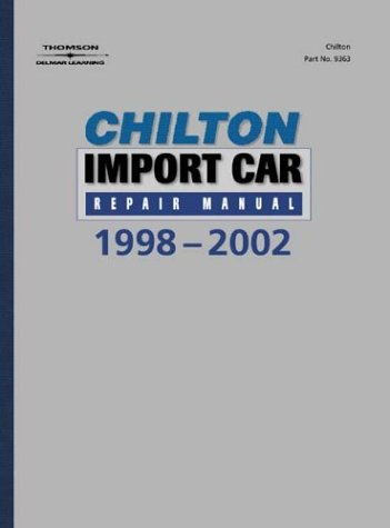 Roush Honda Service >> 1998 - 2002 Chilton's Import Auto Repair Manual