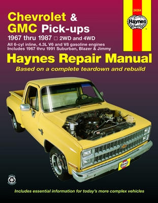 chevy truck repair manuals online free