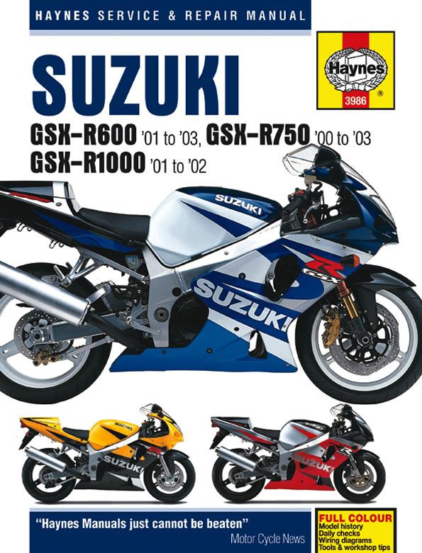 1998 2002 suzuki gsx600f  gsx750f  gsx750 haynes repair manual Suzuki 250 Suzuki 250