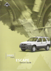 ford escape owners manual  case