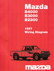 1997 mazda b4000 b3000 b2300 factory wiring diagram. Black Bedroom Furniture Sets. Home Design Ideas
