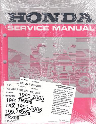 1993 2005 honda trx90 factory atv service manual. Black Bedroom Furniture Sets. Home Design Ideas