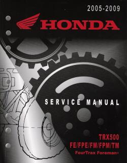 Honda trx 700 service manual pdf