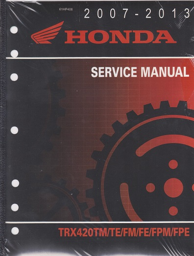 2007 2014 Honda Trx420 Fourtrax Rancher Atv Factory Service Manual