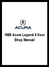 1988 acura legend 4 door shop manual 2 vol set 1993 Acura Legend 1998 Acura Legend