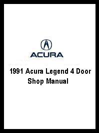 1991 Acura Legend 4 Door Shop Manual