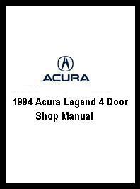 1994 Acura Legend 4 Door Shop Manual on Motor Heavy Truck Repair Manual
