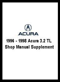 1996 Acura on 1996   1998 Acura 3 2 Tl Shop Manual Supplement