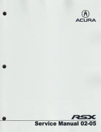 2005 Acura  on 2002   2005 Acura Rsx Service Manual