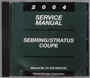 2004 chrysler sebring repair manual free