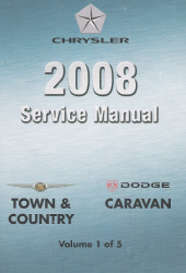2008 Chrysler Town & Country, Dodge Caravan Shop Manual