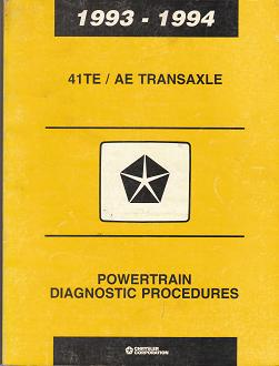 Chrysler 200 Transmission Problems >> 1993 - 1994 Chrysler 41TE / AE Transaxle Powertrain Diagnostic Procedures