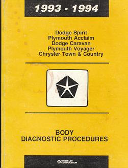 1993 1994 dodge spirit plymouth acclaim dodge. Black Bedroom Furniture Sets. Home Design Ideas