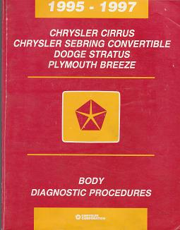 1995 1997 chrysler cirrus sebring convertible dodge stratus plymouth breeze body