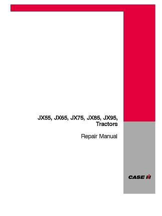 case jx55 jx65 jx75 jx85 jx95 tractor service manual complete 4 rh auto repair manuals com JX75 Case Cab and Loader 2005 Case IH JX75 Tractor