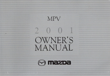 2001 Mazda Mpv Factory Owner S Manual border=