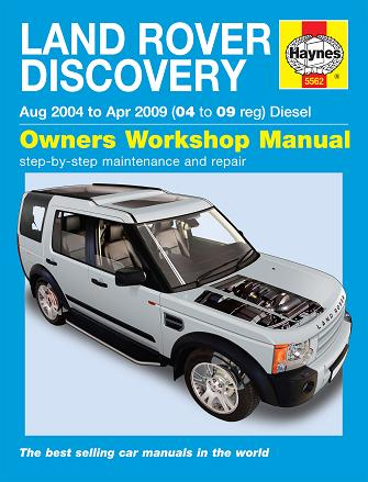 2004 2009 land rover discovery diesel haynes repair manual. Black Bedroom Furniture Sets. Home Design Ideas