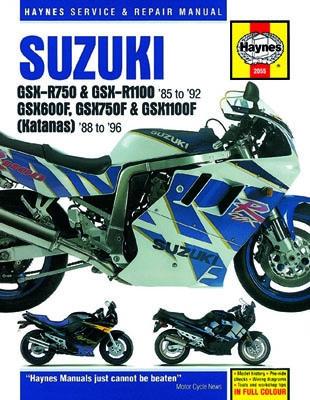 1985 1992 Suzuki Gsxr750 Gsxr1100 88 96 Gsx600 Gsx750 Gsx1100 Haynes Sc Manual