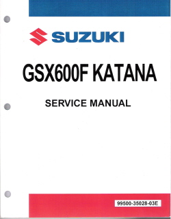 1989 1997 suzuki gsx600f katana series factory service. Black Bedroom Furniture Sets. Home Design Ideas