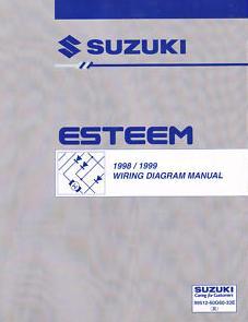1998  1999    Suzuki       Esteem    Factory    Wiring       Diagrams    Manual