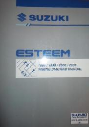 1998 2001 suzuki esteem factory wiring diagrams manual. Black Bedroom Furniture Sets. Home Design Ideas