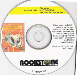 Chrysler 41TE / A604 Transmission Rebuild Procedures - CD-ROM