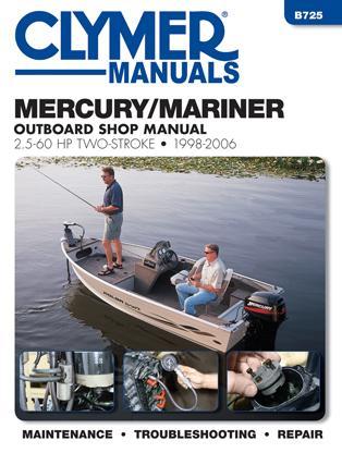 1998 2006 mercury mariner 2 stroke 2 5 60 hp outboard for Boat motor repair manuals