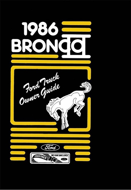 ford bronco ii owners manual