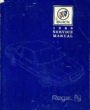 1988 Buick Regal Factory Service Manual