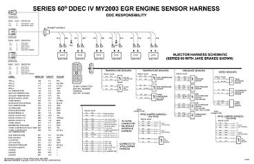 Detroit Diesel DDEC IV with Jake Brake Engine/Cab Wiring Diagram ...