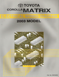 2003 toyota corolla matrix factory electrical wiring diagram. Black Bedroom Furniture Sets. Home Design Ideas
