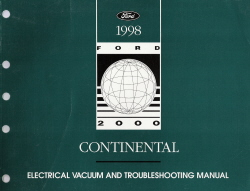 1998 Lincoln Continental Electrical And Troubleshooting Manual